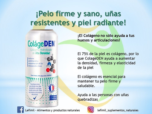 colágeno hidrolizado colageden (consulte envío gratis)