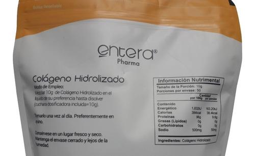 colágeno hidrolizado entera pharma 500g envio full
