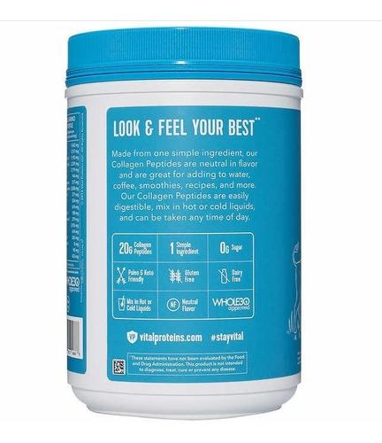 colageno polvo peptides pasture-raised grass-fed paleo 20 oz