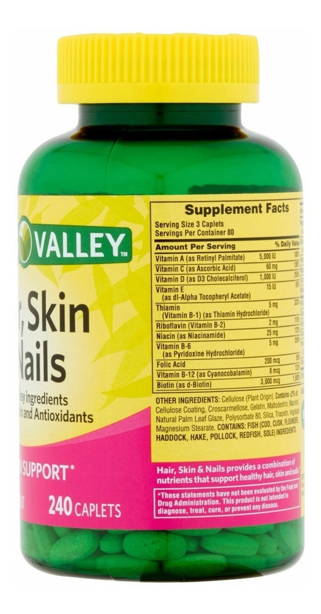 Colageno Spring Valley Hair Skin Nails