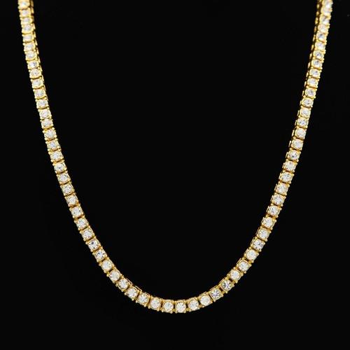 colar 5mm ouro neymar cravejada corrente lxbr 48cm 60cm 75cm