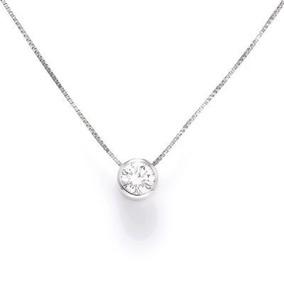 eb399a5a61283 Corrente De Platina Ponto De Luz Com Diamante De 30 Pontos - Colar ...