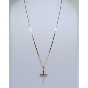 ea9dc97da4be4 Corrente E Pingente Cruz Masculina Ouro 18k 60cm 3mm - Corrente de ...