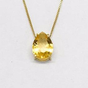 48519529a4706 Corrente Italianinha Em Ouro Amarelo Com Pingente Gota Azul - Joias ...
