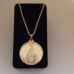 152db9c190fb2 Pingente Medalha Nossa Senhora Aparecida Estilizada Em Ouro - Joias ...
