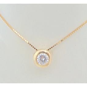 f79c2cfcc3bbd Lindo Pingente Ponto De Luz Ouro 18k Diamante De 55 Pontos - Joias e ...