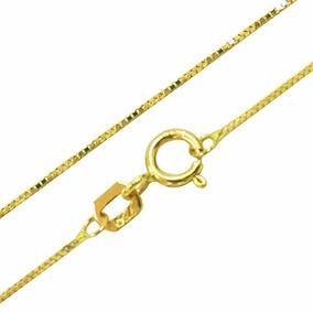 1eb0fc7afe9d1 Corrente Em Ouro 18k Veneziana 45cm. R  360