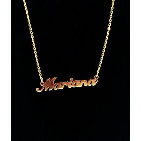 660ac30e17585 Colar Nome Mariana - Colar Feminino no Mercado Livre Brasil