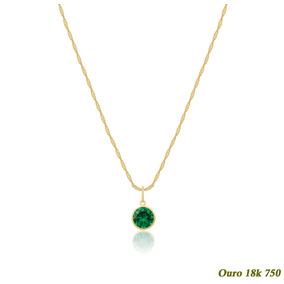 df0d79bd54e95 Colar Em Ouro 18k 750 Com Esmeralda - Joias e Bijuterias no Mercado ...