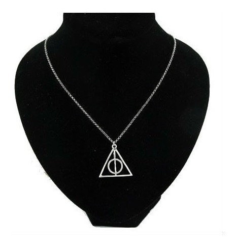 colar amuleto harry potter relíquias da morte