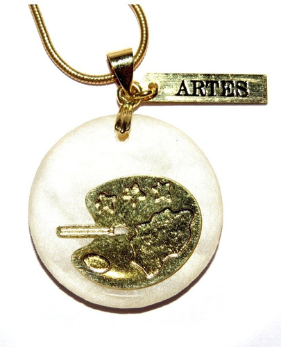 colar artes - folheado em ouro (garantia 6 meses)