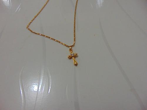colar banhado ouro