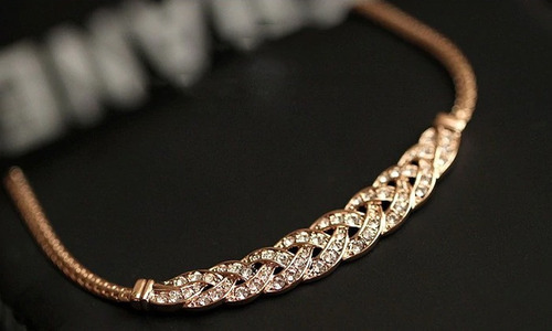 colar banhado ouro prata real 18k - zirconia qualidade luxo