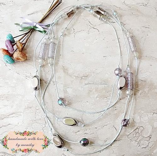 colar bijuteria cristal