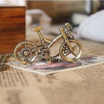 colar bronze ouro velho fashion - bicicleta bike modelo 3