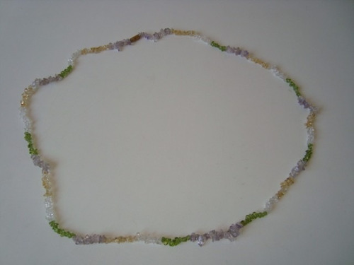 colar cascalho pedra ametista cristal citrino turmalina g