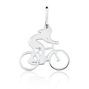 colar ciclismo - prata rodinada (garantia 1 ano)