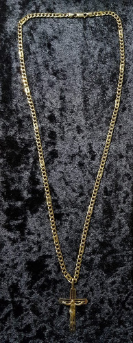 colar com crucifixo de ouro 18 gramas