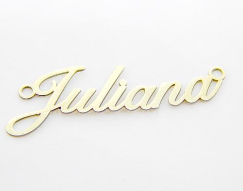 colar com nome personalizado com pingo do i com zirconias