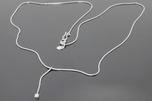 colar com pingente em ouro branco 18k com brilhante (1320)