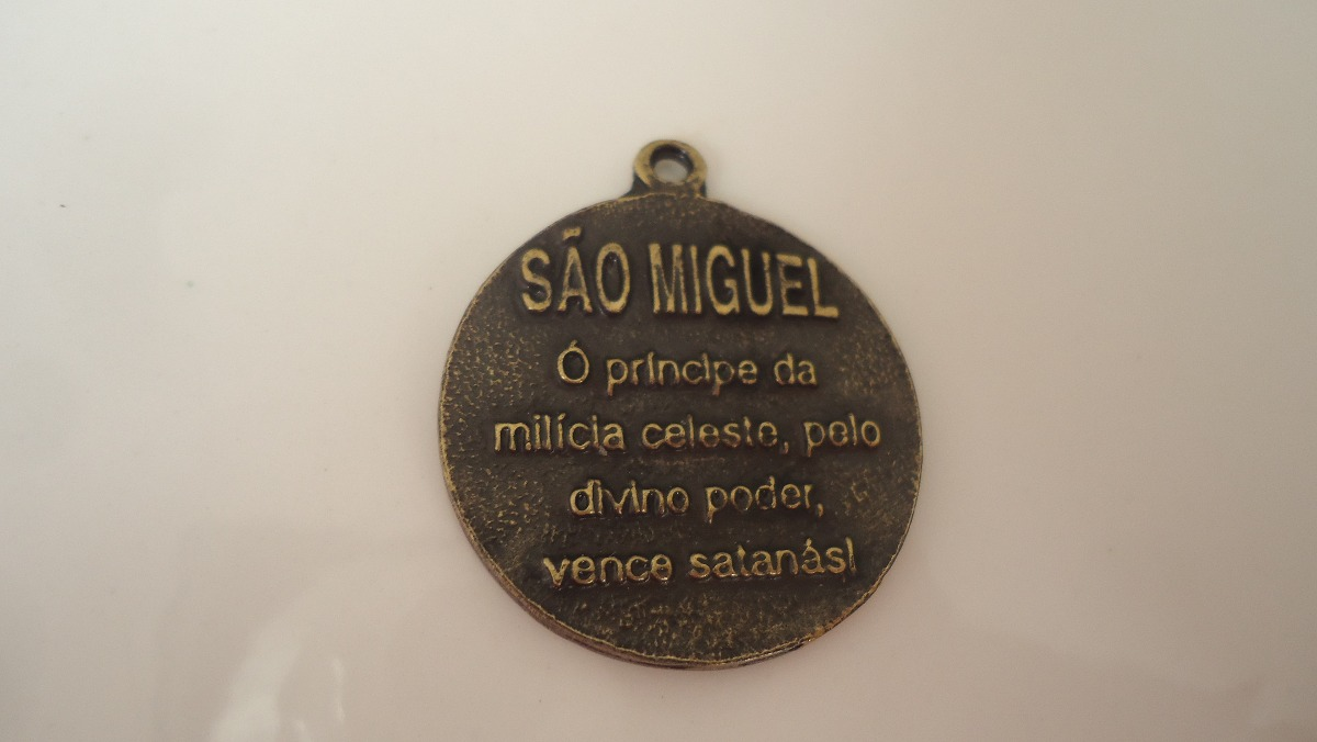 df7cadccf2cc6 Colar Cordao Com Medalha De Sao Miguel Arcanjo Mais Brinde - R  25 ...