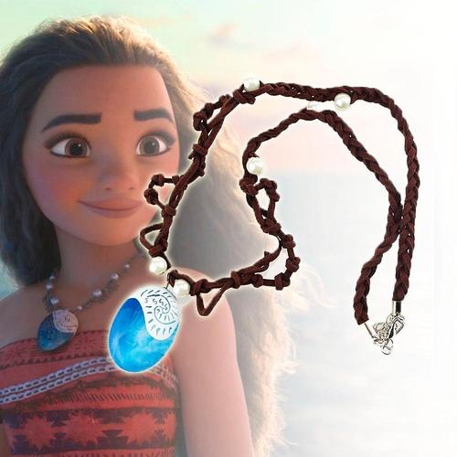 colar cordão com pedra princesa moana