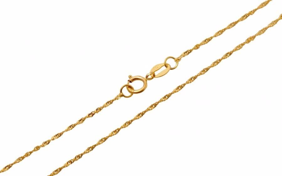colar cordão corrente singapura feminina em ouro 18k 750. Carregando zoom. 4dafdb9610