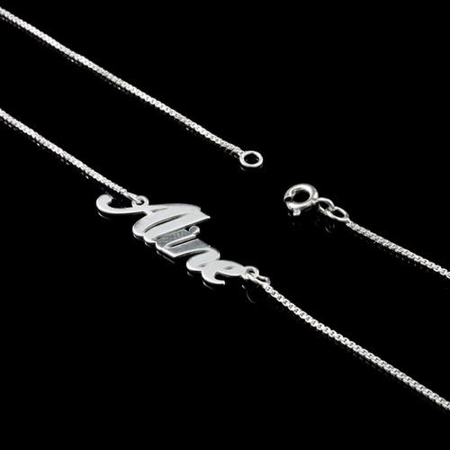 colar  cordão de prata 925 feminino personalizado com nome
