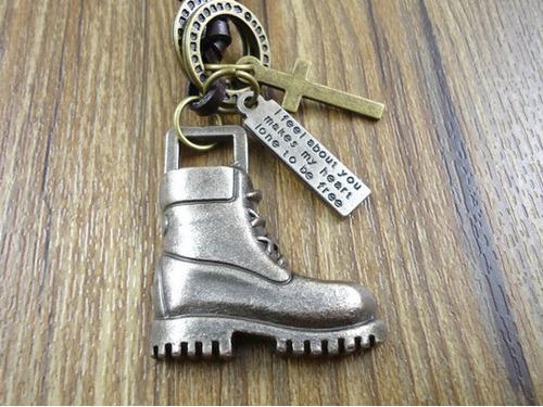 colar cordão masculino armani exchange boots - frete grátis!