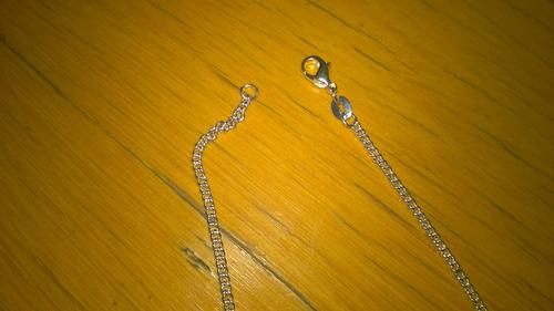 colar corrente 45 cm / 1mm - prata 925