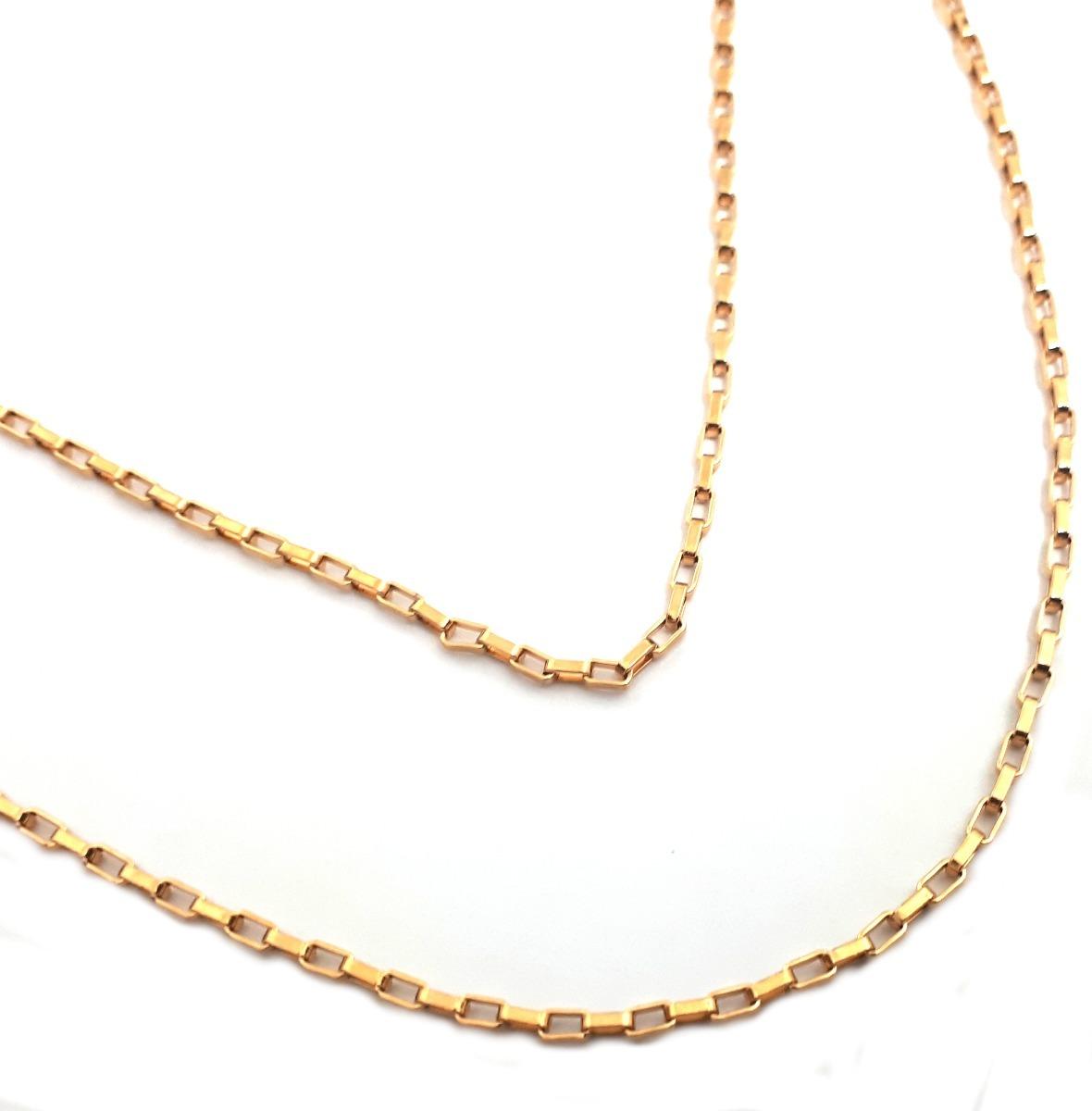 904917b66a7 colar corrente feminina elos cartier 50cm aço banhado ouro. Carregando zoom.