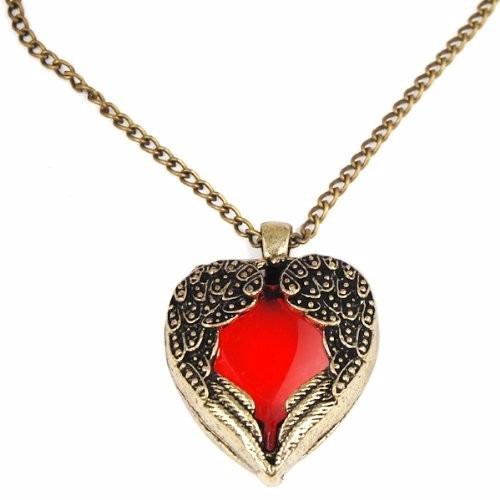 colar corrente feminino pingente de coração
