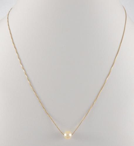 colar corrente gargantilha ouro 18k pingente perola natural