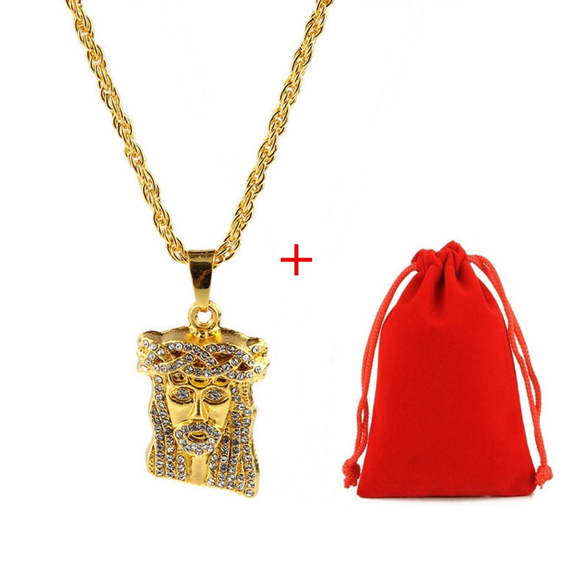 colar corrente jesus hip hop funk rap luxo top ouro diamante. Carregando  zoom. 7e4c29a70b