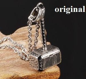 colar corrente martelo de thor - cordão thor aço inoxidavel