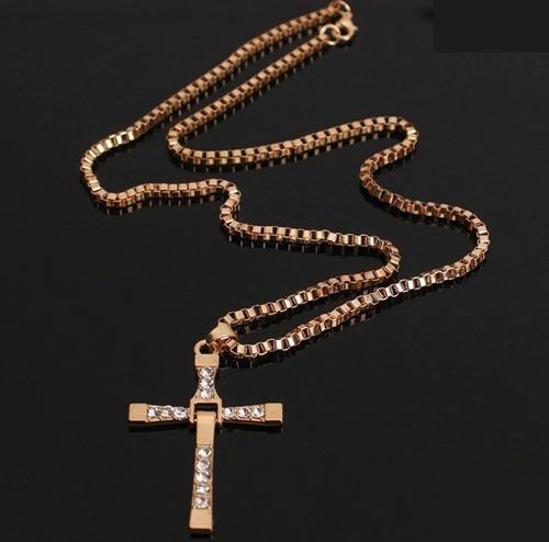 colar corrente ouro com pingente cruz