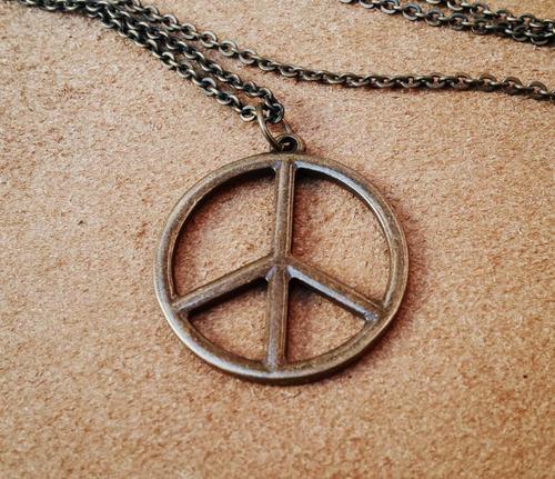 colar corrente paz