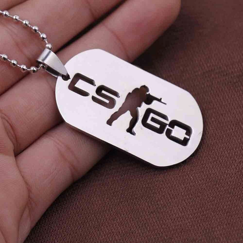 colar cs go counter strike global offensive placa militar