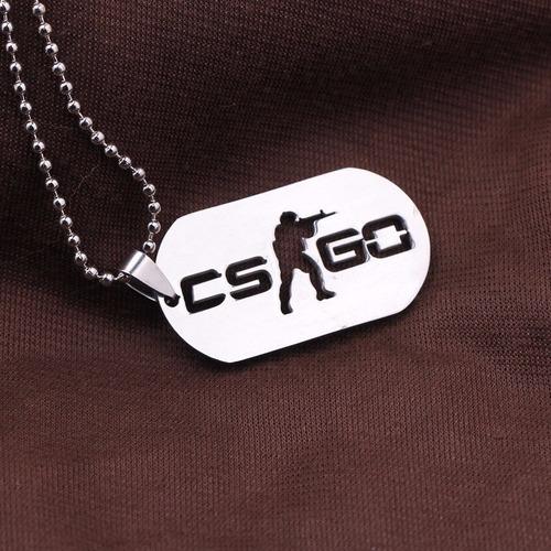 colar cs go dog tag inox counter strike global offensive
