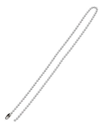 colar de bolinha fino com 75cm x 1,5mm em aço inox cirúrgico