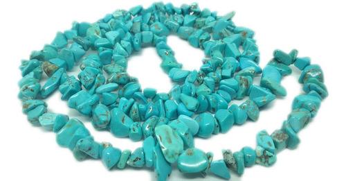 colar de cascalho de pedra howlita turquesa natural