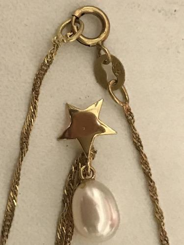 colar de grife em ouro 18k-750, peso: 2 gramas, 51cm