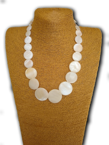 colar de madrepérola branco ref: 5719 - antonio bijuterias