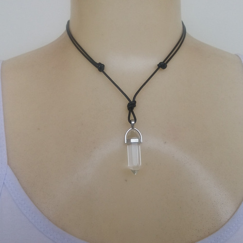 colar de pedra cristal ref: 7448 - moda - antonio bijuterias