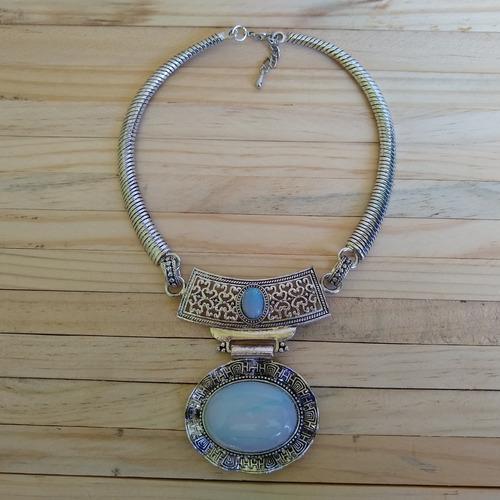 colar de pedra da lua ref: 9415 antonio bijuterias