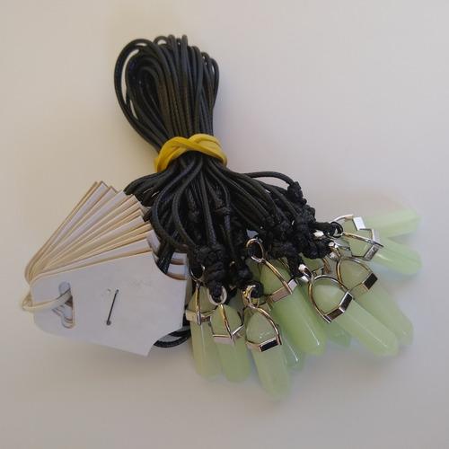 colar de pedra fluorescente, brilha escuro ref: 6719 (dúzia)