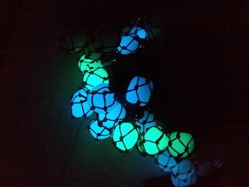 colar de pedra fluorescente, brilha escuro ref 6766 dúzia
