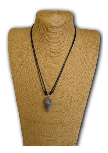 colar de pedra natural ágata ref: 9218
