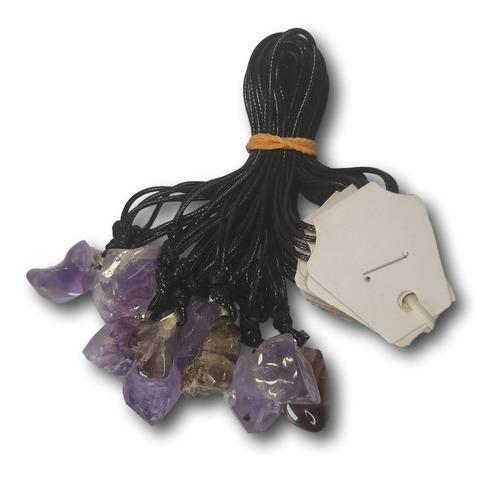 colar de pedra natural ametista ref: 9181 - dúzia atacado