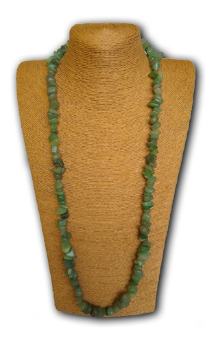 colar de pedra natural quartzo verde ref: 6010